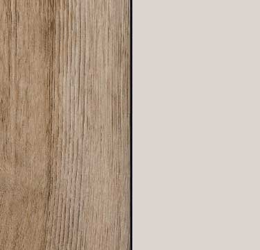 Sanremo Oak Light Carcase with Silk Grey Glass Front and Chrome Color Handle A4C34