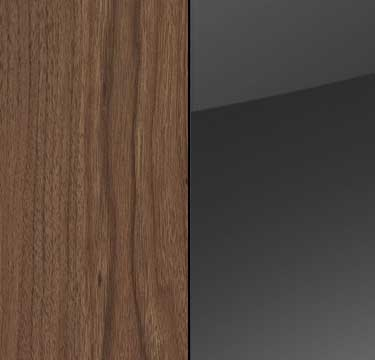 Royal Walnut Carcase and Front with Glass Basalt Top A6554