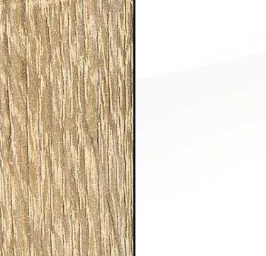 Sonoma Oak Carcase with High Polish White Front AS033