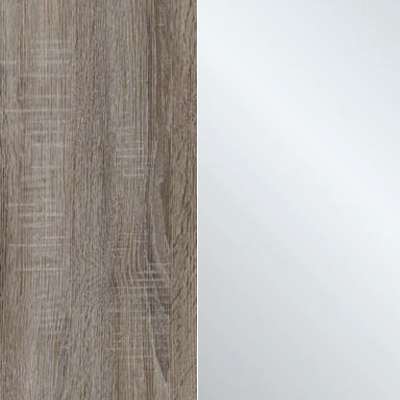 Dark Rustic Oak Carcase Color and Front with Crystal Mirror 433