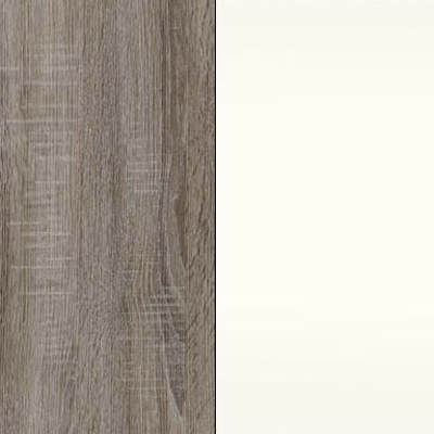 Dark Rustic Oak Carcase Color with White Front 433