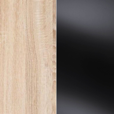 Holm Oak Carcase Color and Front with Black Glass 531