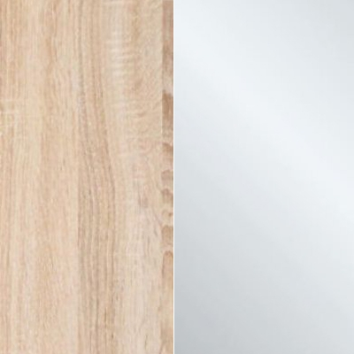 Holm Oak Carcase Color and Front with Crystal Mirror Front 531