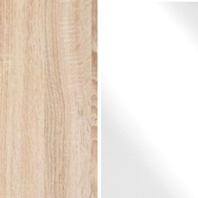 Holm Oak Carcase Color with White Glass Front 531