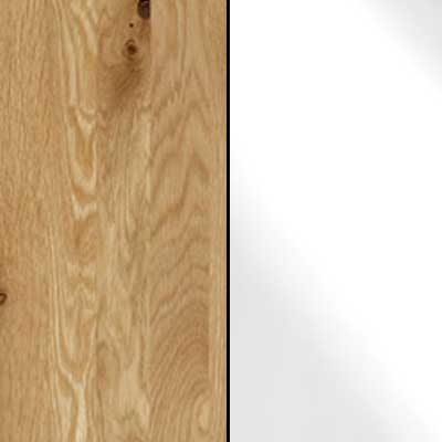 Semi Solid Oak Carcase with White Glass Front 183