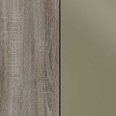 Dark Rustic Oak with Sahara Faux Leather Headboard Cushion 964