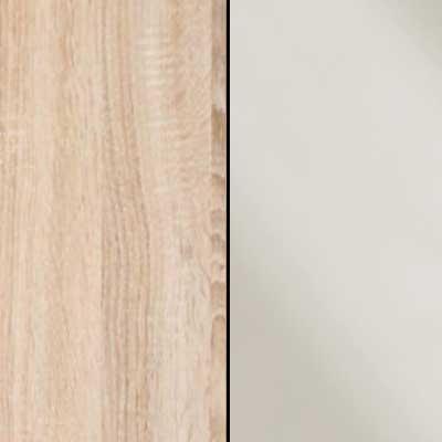 Rustic Oak with Magnolia Faux Leather Headboard Cushion 963