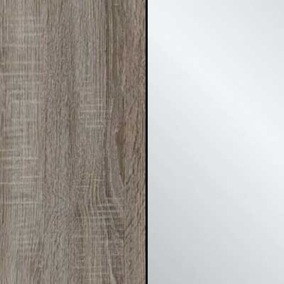 Dark Rustic Oak Carcase with Crystal Mirror Front 964