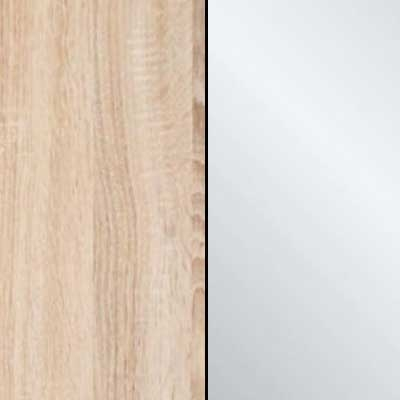 Rustic Oak Carcase with Crystal Mirror Front 963