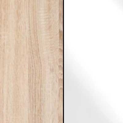 Rustic Oak Carcase with White Glass Front 963