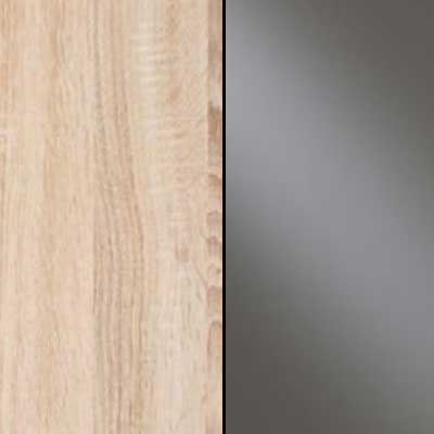 Rustic Oak with Havana Faux Leather Leather Headboard Cushion 669