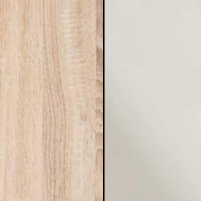 Rustic Oak with Magnolia Faux Leather Leather Headboard Cushion 669