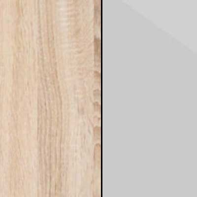 Rustic Oak with Pebble Grey Faux Leather 669