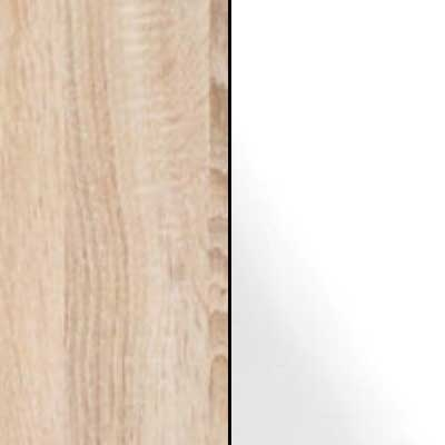 Rustic Oak Carcase with White Glass Front 669