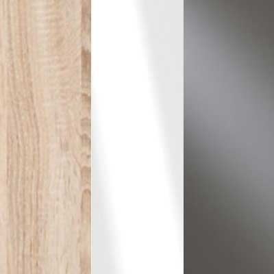 Rustic Oak Carcase with White Glass and Havana Glass Front 669