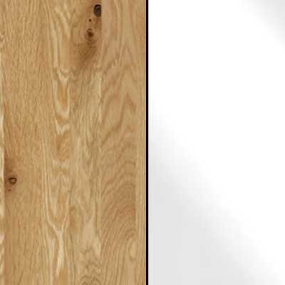 Semi Solid Oak Carcase with White Glass Front 601