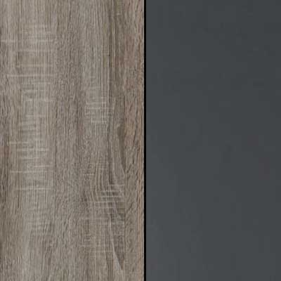Dark Rustic Oak Carcase and Front with Havana Highlights Finish and Chrome Handle and Cross Trims 635