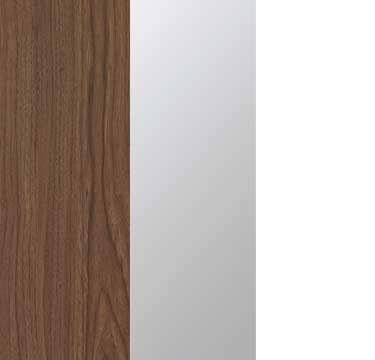 Royal Walnut Carcase with Mirror and Alpine White Front A2W00