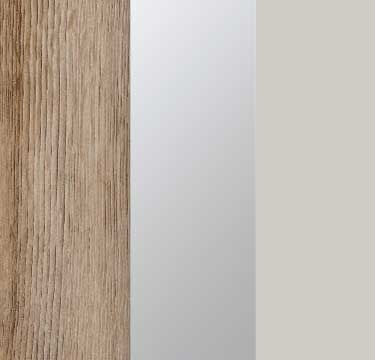 Sanremo Oak Light Carcase with Mirror and Silk Grey Front A4W10