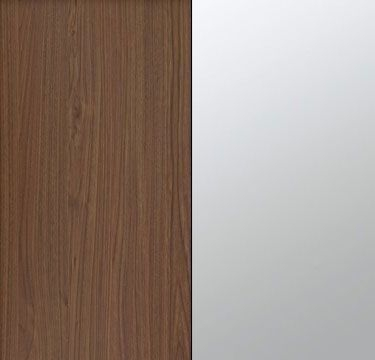 Royal Walnut Carcase with Mirror Front A2W03