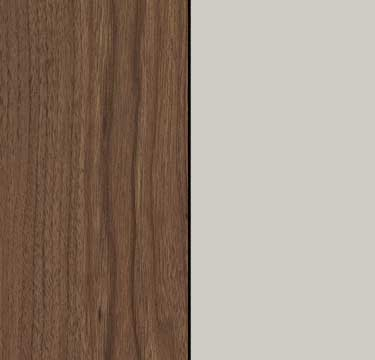 Royal Walnut Carcase with Silk Grey Front A2W13