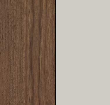 Royal Walnut Carcase with Silk Grey Glass Front A2W93