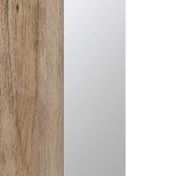Sanremo Oak Light Carcase with Mirror and Alpine White Front A4W03