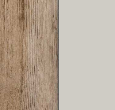 Sanremo Oak Light Carcase with Silk Grey Front A4W13