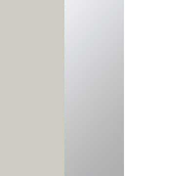 Silk Grey Carcase with Mirror and Alpine White Front A1W03