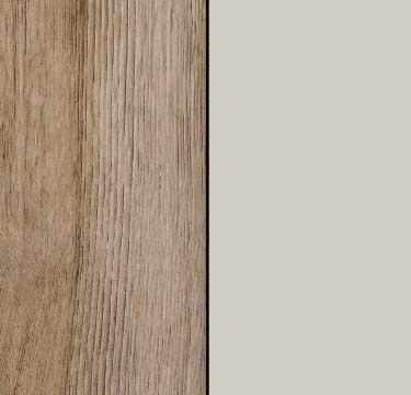 Sanremo Oak Light Carcase with Silk Grey Glass Front A252B