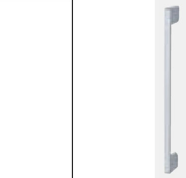Alpine White Carcase with High Polish White Front and Aluminium Color Handle A014M