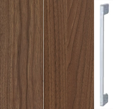 Royal Walnut Carcase and Front with Aluminium Color Handle A600M