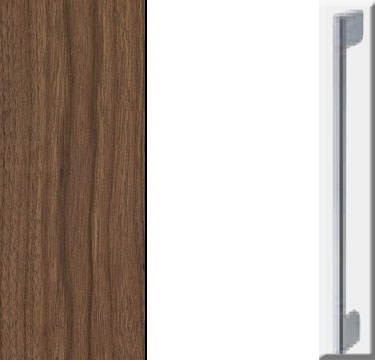 Royal walnut Carcase with High Polish White Front and Chrome Color Handle A601N
