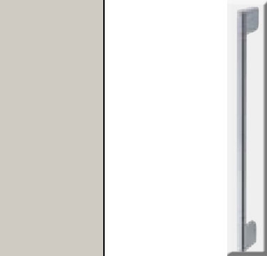 Silk Grey Carcase with High Polish White Front and Chrome Color Handle A032N