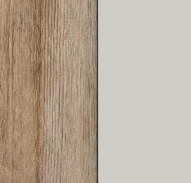 Sanremo Oak Light Carcase and Glass Silk Grey Front AS10A
