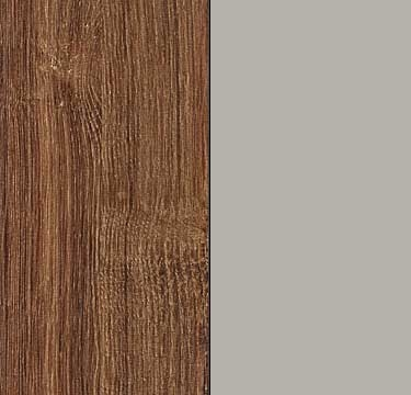 Stirling Oak Carcase with High Polish Soft Grey Front AJ501