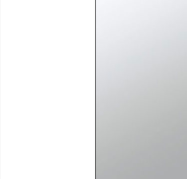 Alpine White Carcase with Mirror Front A223B