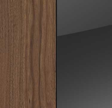 Royal Walnut Carcase with Basalt Glass Front A192B