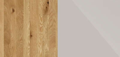 Semi Solid Oak Carcase with Champagne Glass Front 815