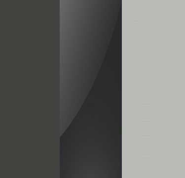 Graphite Carcase with Basalt Glass Front and Silk Grey Application Color A107B
