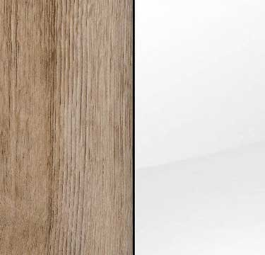 Sanremo Oak Light Carcase with Glass White Front AM456