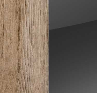 Sanremo Oak Light Carcase and Front with Basalt Glass A348A