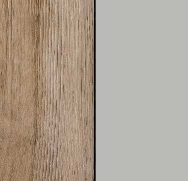 Sanremo Oak Light Carcase and Front with Silk Grey Glass A347C