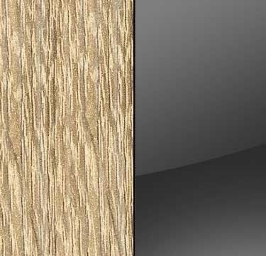 Sonoma Oak Carcase with Glass Basalt Front and Carcase Color Handle Stripe A552D