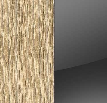 Sonoma Oak Carcase with Glass Basalt Front and Carcase Color Handle Stripe A562D