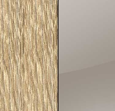 Sonoma Oak Carcase with Glass Fango Front and Carcase Color Handle Stripe A561D