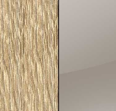 Sonoma Oak Carcase with Glass Fango Front and Chrome Color Handle Strip A551L