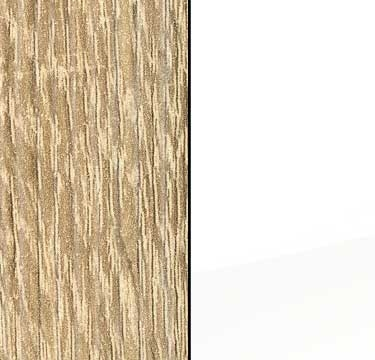 Sonoma Oak Carcase with High Polish White Front and Carcase Color Handle Stripe A540D