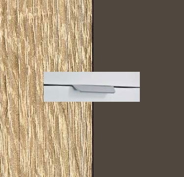 Sonoma Oak Carcase with Lava Grey Front and Chrome Color Handle No2 AA00R
