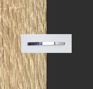 Sonoma Oak Carcase with Metallic Grey Front and Chrome Color Handle No1 A573D